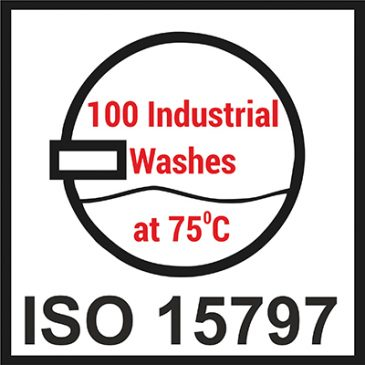 8 fr-fabrics have been tested for 100 industrial washes